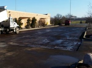 We did some parking lot maintenance in Orland Park