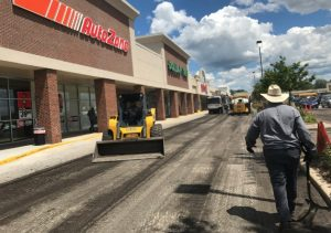 Finishing some commercial paving maintenance in Orland Park