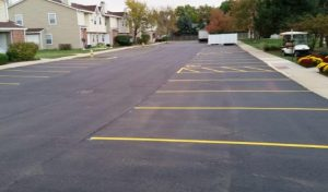 A shot of some finished parking lot paving in Oak Forest