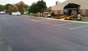 We did this Orland Park paving contractor job we finished on time